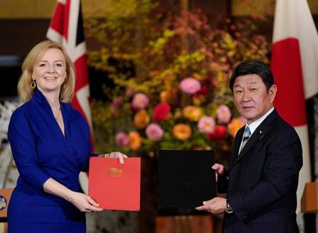 Великобритания и Япония подписаха споразумение за свободна търговия