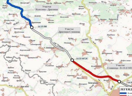 Търгът за последната отсечка от магистралата до Сърбия: 224 млн. лв. за 16 км