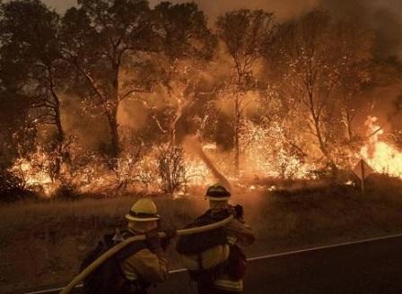 Голям пожар в Калифорния предизвика евакуацията на стотици домове