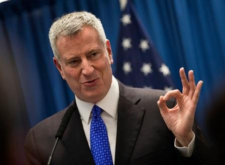 Бил де Блазио с втори мандат като кмет на Ню Йорк