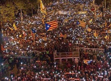 750 000 каталунци поискаха да бъдат пуснати от затвора сепаратистките лидери