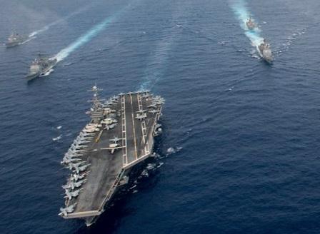Южна Корея и САЩ започнаха мащабни военноморски маневри