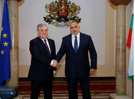 Антонио Таяни и Борисов обсъдиха Българското председателство на Съвета на ЕС