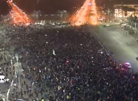 Антиправителствени протести в Румъния
