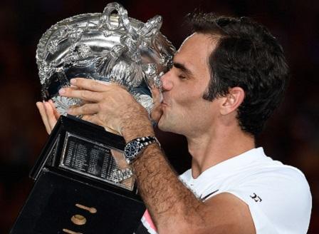 Роджър Федерер спечели Откритото първенство на Австралия след 3:2 сета над Марин Чилич