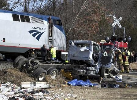 Влакова катастрофа с конгресмени в САЩ