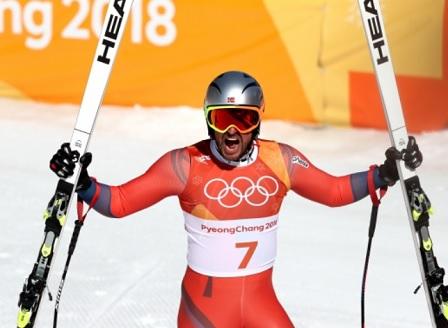 Първо злато за Норвегия в мъжкото спускане на Зимни олимпийски игри