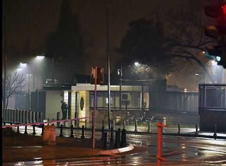 Сърбин хвърли граната по посолството на САЩ в Подгорица