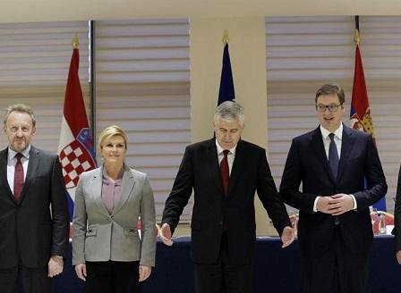 Проведе се среща между президентите на Сърбия, Хърватия и Босна и Херциговина