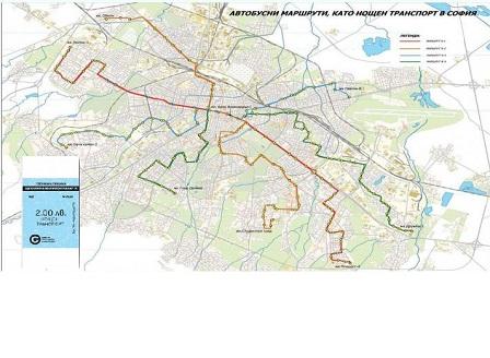 Нощният градски транспорт в София тръгва от 7 април