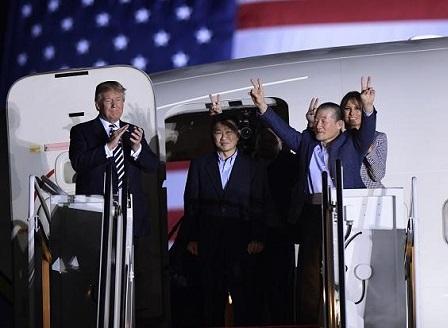 Тримата американци, освободени от затвор в Северна Корея