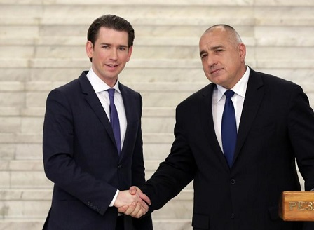 България символично предава председателството на Съвета на ЕС на Австрия