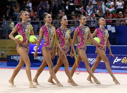 Българският ансамбъл по художествена гимнастика спечели бронзов медал в многобоя