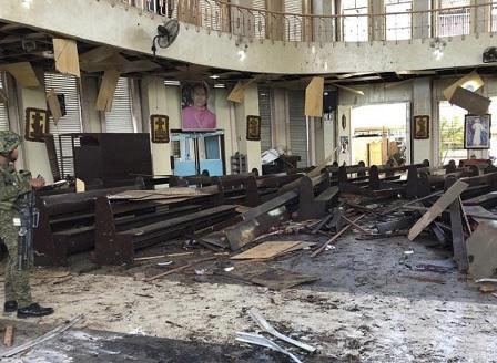 Атентат срещу католическа църква във Филипините