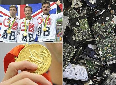 Япония рециклира 50 тона е-боклук за олимпийските медали