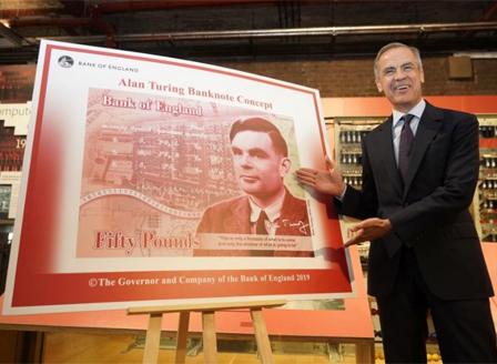 Бащата на изкуствения интелект ще бъде на новата банкнота от 50 паунда