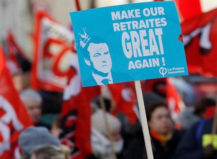 Седми ден Франция на стачка срещу пенсионната реформа във Франция
