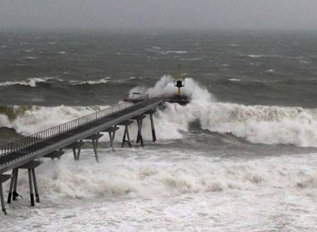 Бурята Глория достигна Южна Франция