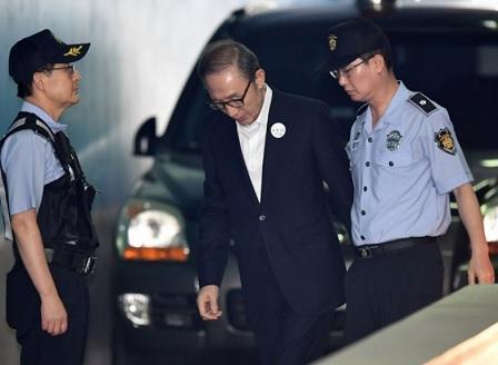 Бивш президент на Южна Корея получи присъда за корупция