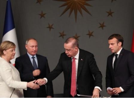 Ердоган ще се срещне с Путин, Меркел и Макрон заради ситуацията в Идлиб