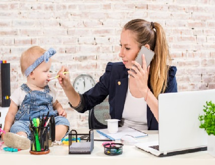 Как да работим у дома, ако имаме деца